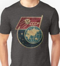 CCCP Flag Satellite Unisex T-Shirt