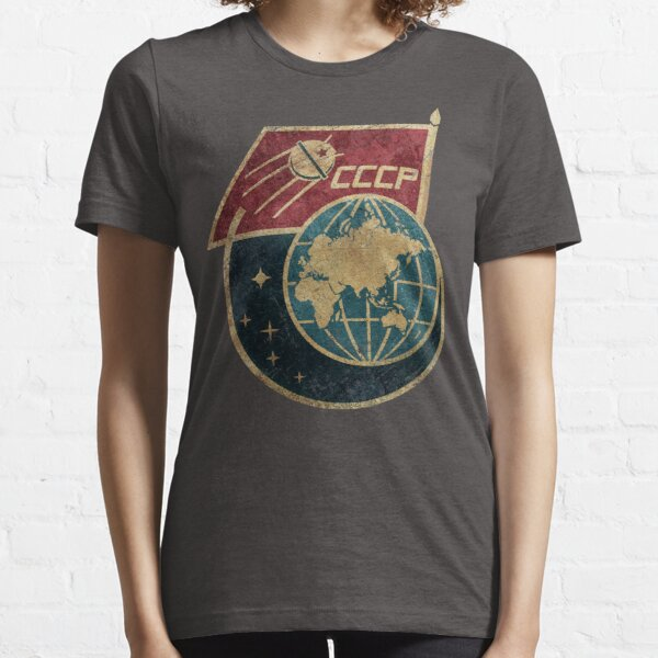 CCCP Flag Satellite Essential T-Shirt