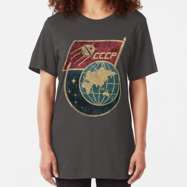 CCCP Flag Satellite Slim Fit T-Shirt
