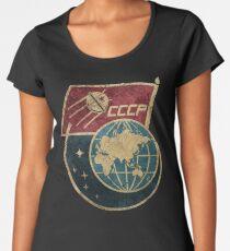 CCCP Flag Satellite Premium Scoop T-Shirt