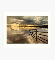 Muckross Jetty, Lough Erne Art Print