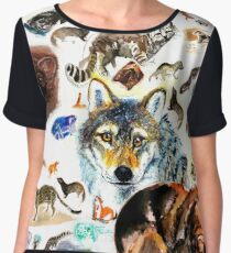 Animals Pattern Chiffon Top