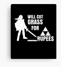 Will Cut Grass For Rupees Gift  Canvas Print