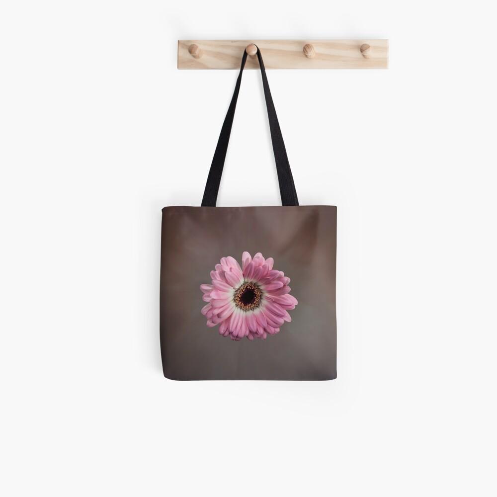 Single pink Gerbera Flower Tote Bag