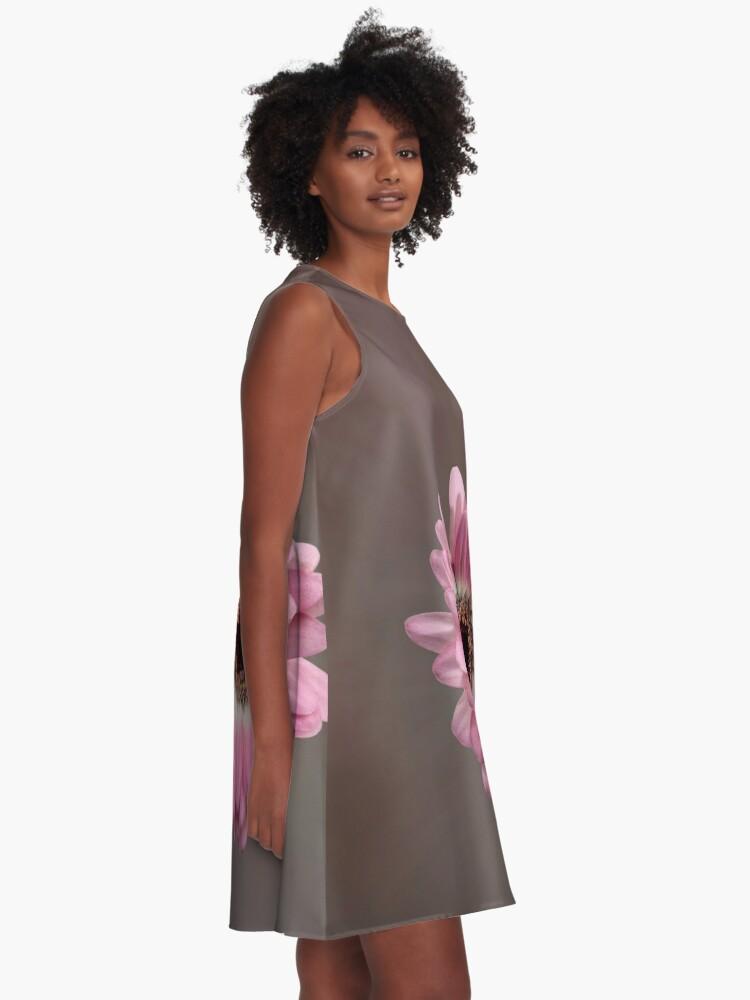 Alternate view of Single pink Gerbera Flower A-Line Dress