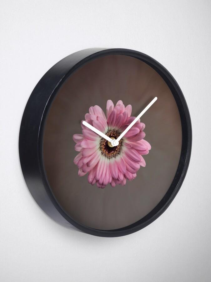 Alternate view of Single pink Gerbera Flower Clock