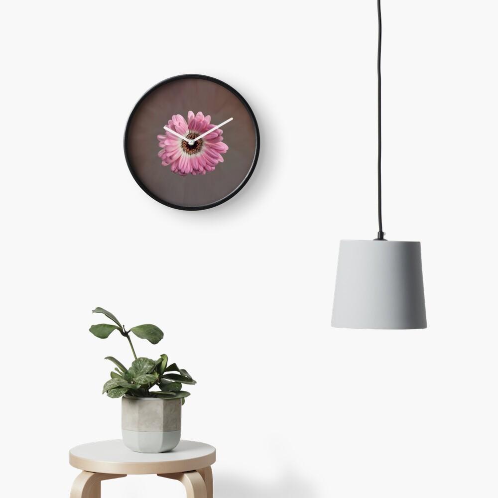 Single pink Gerbera Flower Clock