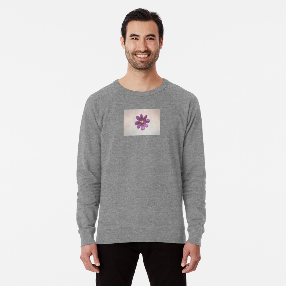 Purple Cosmos Flower Lightweight Sweatshirt