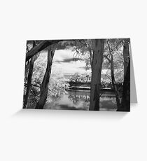 Darling River in IR Greeting Card