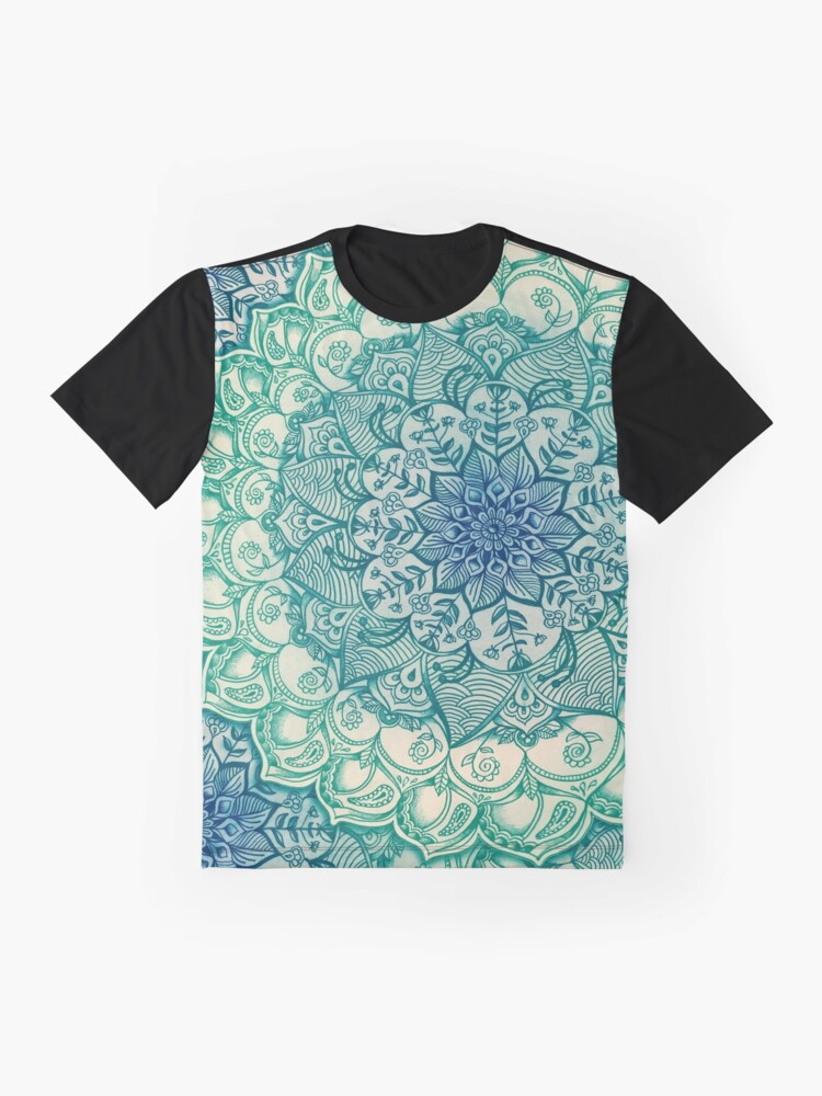 Alternate view of Emerald Doodle Graphic T-Shirt