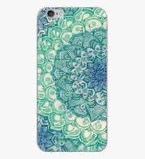 Vinilo y funda para iPhone Emerald Doodle
