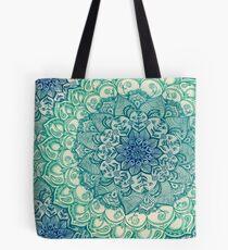 Smaragd-Gekritzel Tote Bag