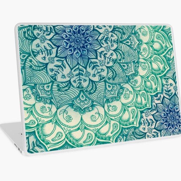 Emerald Doodle Laptop Skin