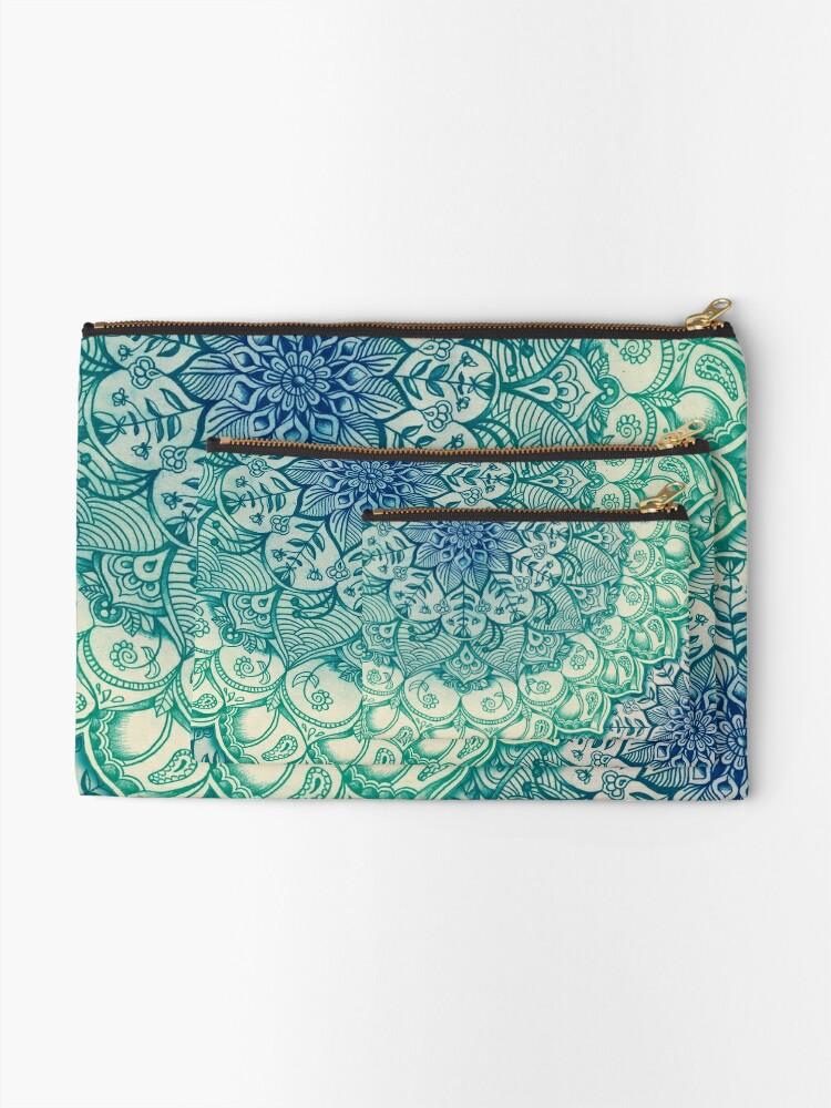 Alternate view of Emerald Doodle Zipper Pouch