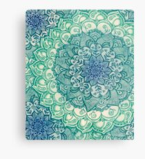 Emerald Doodle Metal Print