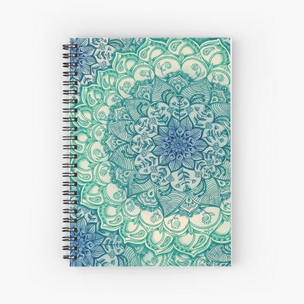 Emerald Doodle Spiral Notebook