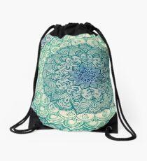 Emerald Doodle Drawstring Bag
