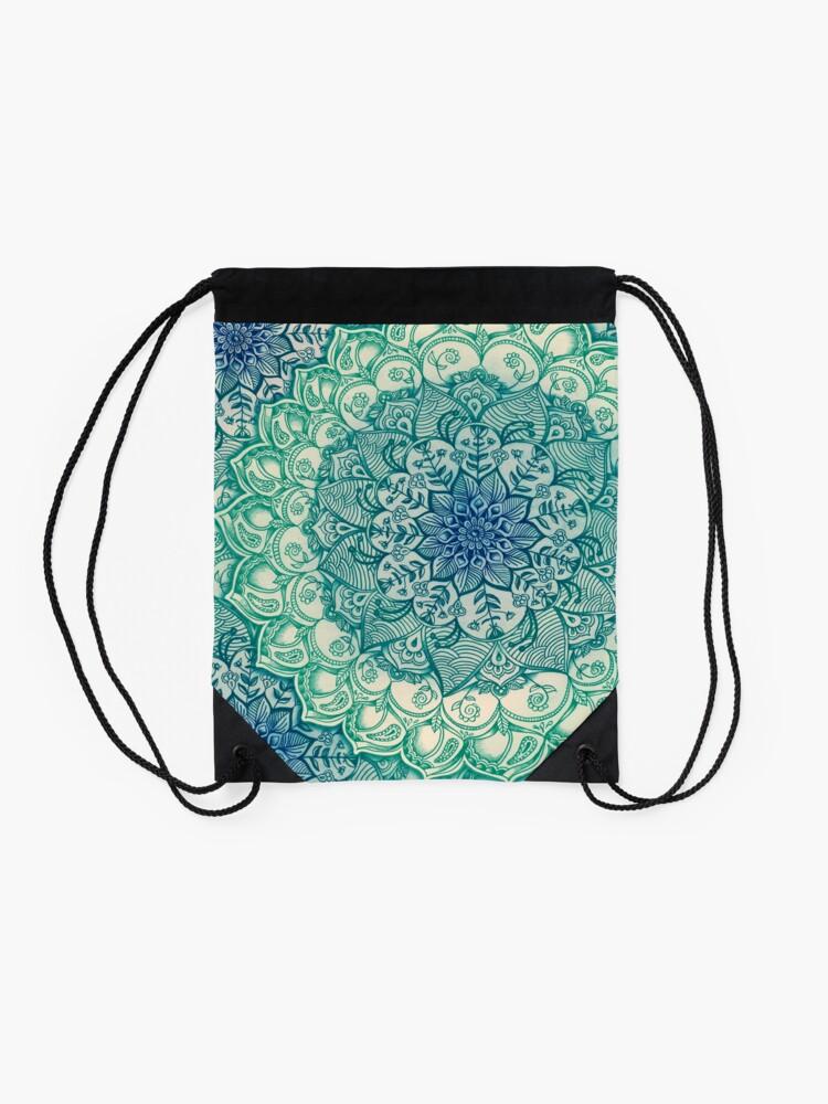 Alternate view of Emerald Doodle Drawstring Bag