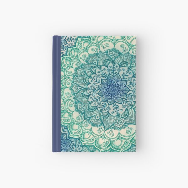 Emerald Doodle Hardcover Journal