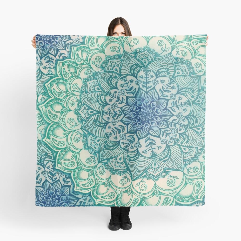 Smaragd-Gekritzel Tuch