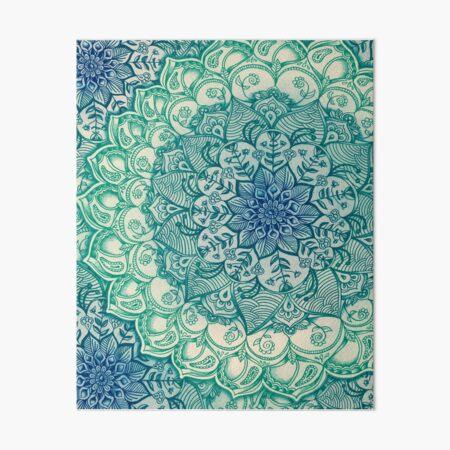 Emerald Doodle Art Board Print