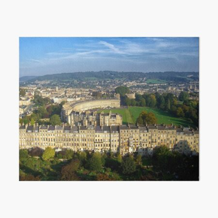 Marlborough Buildings - Aerial Image of Bath, Somerset, UK Art Board Print