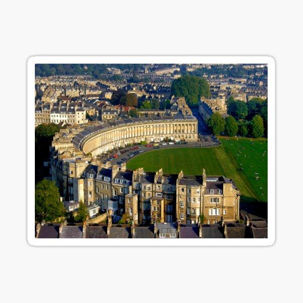 Royal Crescent - Aerial Image of Bath, Somerset, UK  Sticker