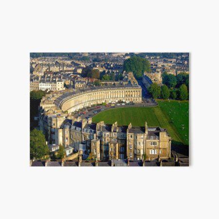 Royal Crescent - Aerial Image of Bath, Somerset, UK  Art Board Print
