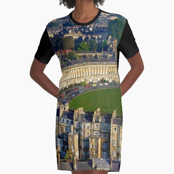 Royal Crescent - Aerial Image of Bath, Somerset, UK  Graphic T-Shirt Dress