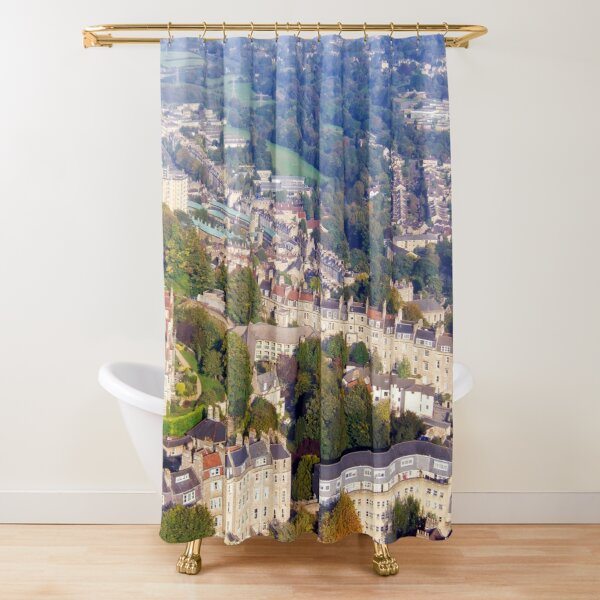 Aerial Image of Bath, Somerset, UK  Shower Curtain