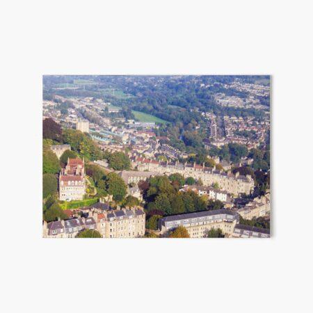 Aerial Image of Bath, Somerset, UK  Art Board Print