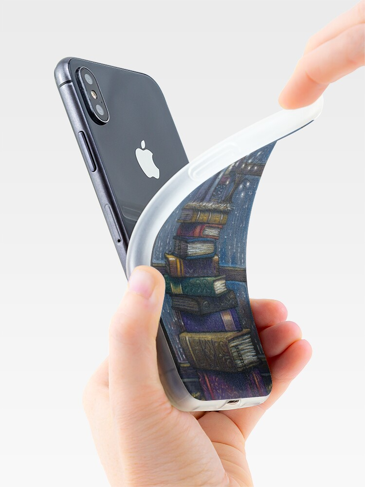 Alternate view of Books castle iPhone Case & Cover