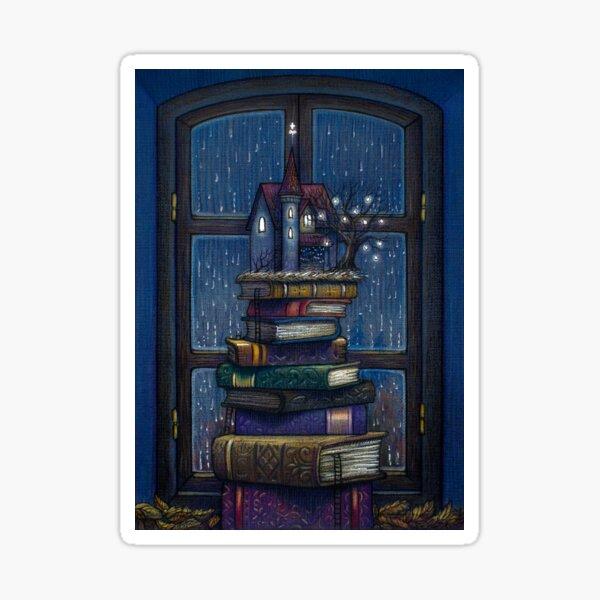 Books castle Sticker