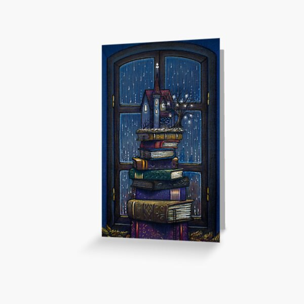 Books castle Greeting Card