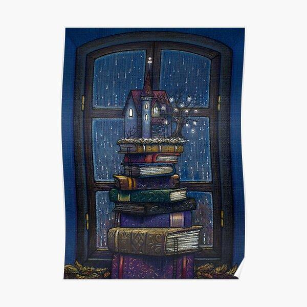 Books castle Poster