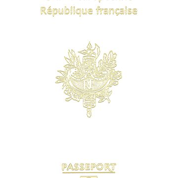 French Passport Tshirt by WeeTee