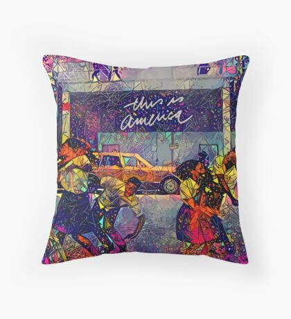 Abstract This Is America Throw Pillow