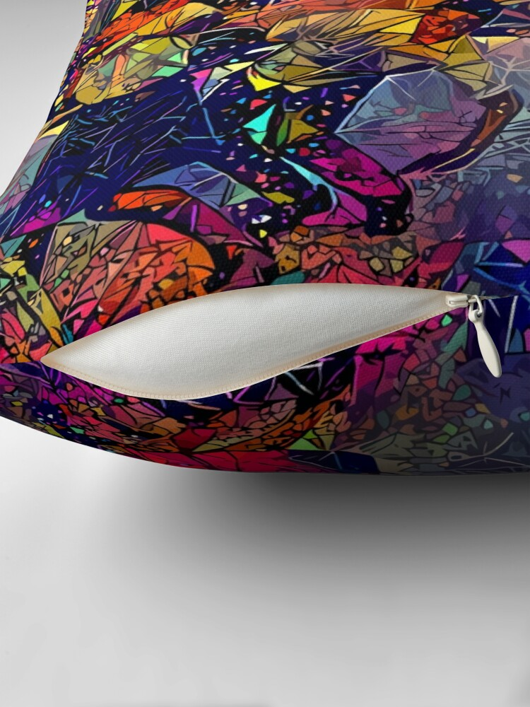 Alternate view of Abstract This Is America Floor Pillow