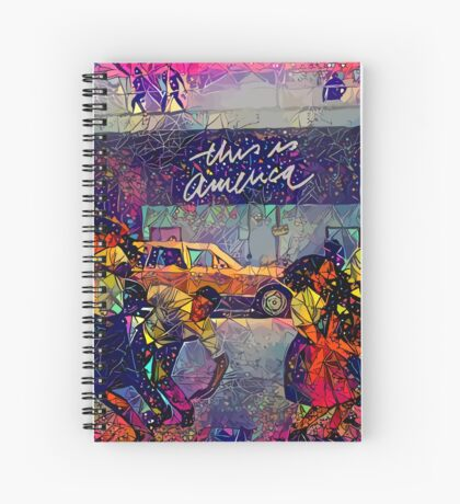 Abstract This Is America Spiral Notebook