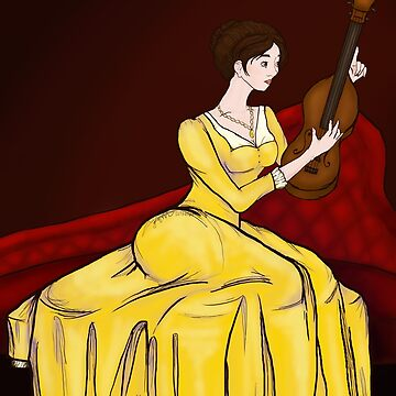 Lady with Violin - Nannerl Mozart by hillyhale