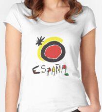 Spain - España  Women's Fitted Scoop T-Shirt