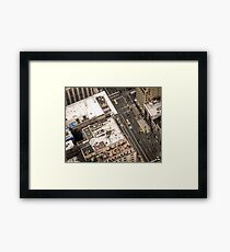 Vintage photograph of the streets New York City Framed Print