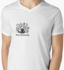The Rolistes Podcast - Cthulhu Cat (Front Pocket Monochrome) V-Neck T-Shirt
