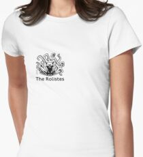 The Rolistes Podcast - Cthulhu Cat (Front Pocket Monochrome) Fitted T-Shirt