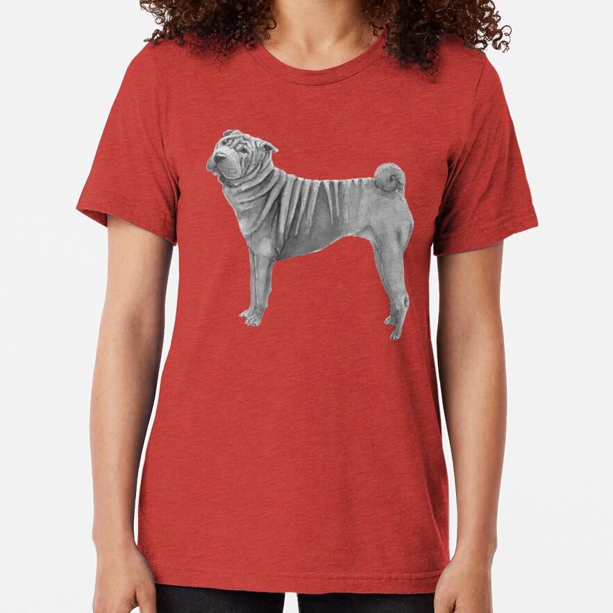 Shar pei Tri-blend T-Shirt