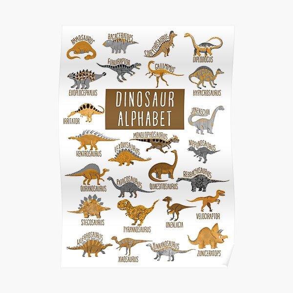 Dinosaur Alphabet Poster