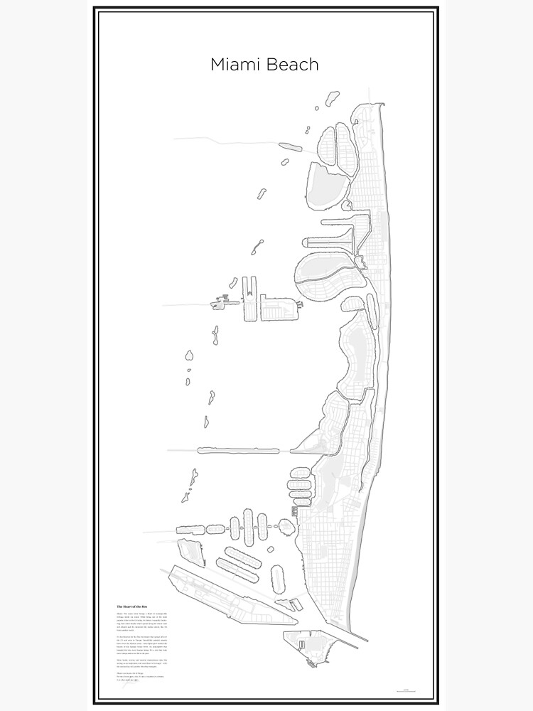 Illustrative Karte von Miami Beach (Guide) von Lucsy3012