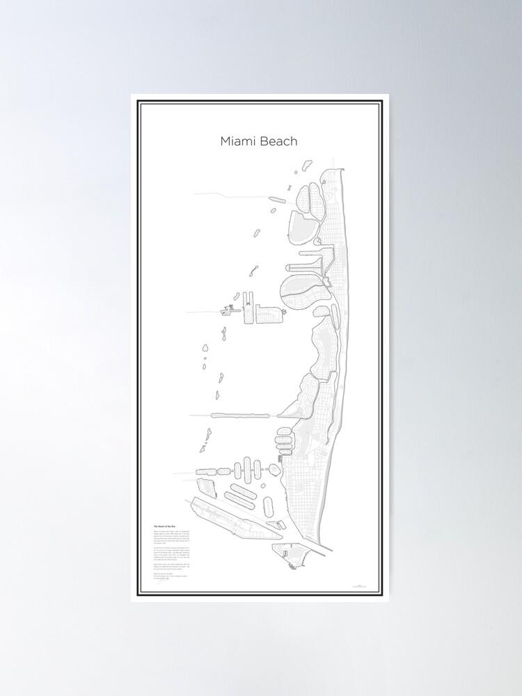 Alternative Ansicht von Illustrative Karte von Miami Beach (Guide) Poster