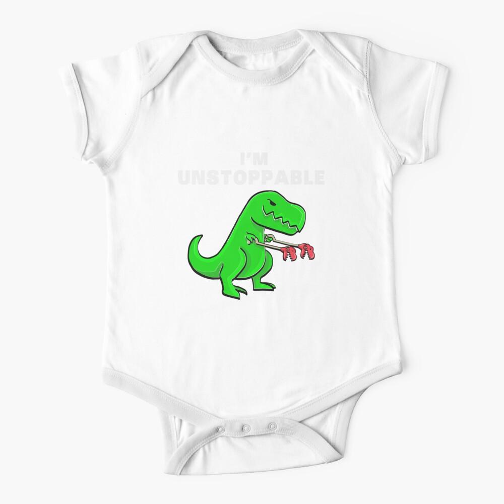 I AM UNSTOPPABLE Dinosaur T-Rex Tyrannosaurus Baby One-Piece