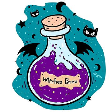 Witches Brew - Magic Potion Bottle by sarahmwall